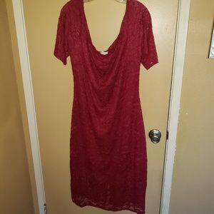 Love J size 3X red lace bodycon dress